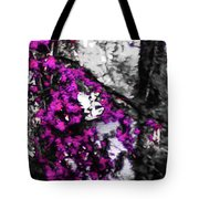 Pink Crape Myrtles Abstract Tote Bag