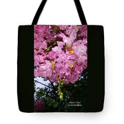 Pink Crystals Tote Bag