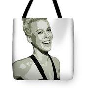Pink Cutout Art Tote Bag