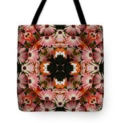 Pink Daisies Kaleidoscope Tote Bag