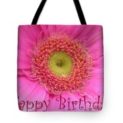 Pink Daisy Birthday Card Tote Bag