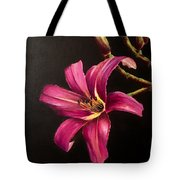 Pink Daylily Tote Bag