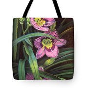 Pink Daylilys Tote Bag