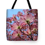 Pink Dogwood Flowers Landscape 11 Blue Sky Botanical Artwork Baslee Troutman Tote Bag