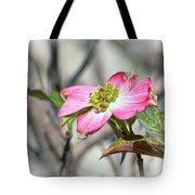 Pink Dogwood Tote Bag by Kerri Farley