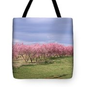 Pink Pear Trees Tote Bag