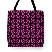 Pink Dots Pattern On Black Tote Bag
