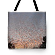 Pink Dotted Sky Tote Bag