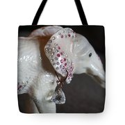 Pink Elliefont Earring Tote Bag