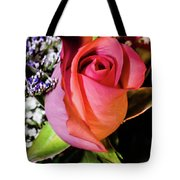 Pink Eye Rose Tote Bag