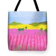 Pink Field Tote Bag