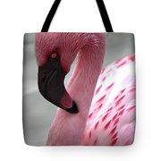 Pink Flamingo Profile Tote Bag