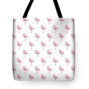 Pink Flamingo Watercolor Pattern Tote Bag