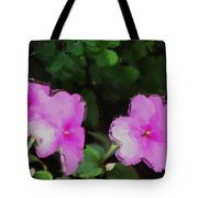 Pink Floral Watercolor Tote Bag