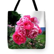 Pink Floribunda Roses Tote Bag