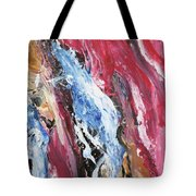 Pink Flow Abstract Tote Bag