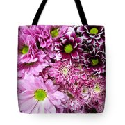 Pink Flower Carpet Tote Bag