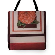 Pink Flower Greeting Card Tote Bag
