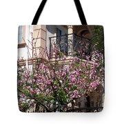 Pink Flower Tree. Elegant Tote Bag