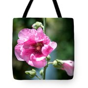 Pink Flower Tote Bag by Yew Kwang