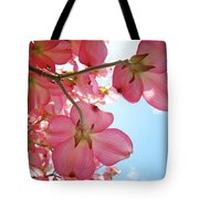 Pink Flowering Dogwood Tree Art Prints Blue Sky Baslee Troutman Tote Bag