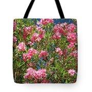 Pink Flowering Shrub Tote Bag
