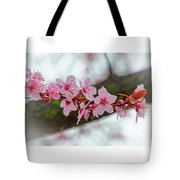Pink Flowering Tree - Crabapple With Drops Tote Bag