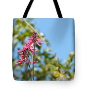 Pink Flowers At Coba Tote Bag