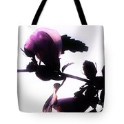 Pink Flowers In Empty Space Tote Bag