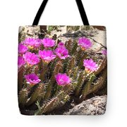 Pink Flowers In The Desert Tote Bag