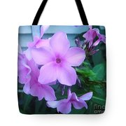 Pink Flowers In The Garden Tote Bag