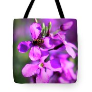 Pink Flowers With Bee . 40d4803 Tote Bag