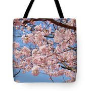 Pink Fluffy Branches Tote Bag