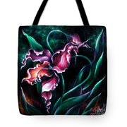 Pink Fuschia Orchid. Dance Of The Nature Tote Bag