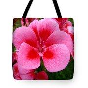 Pink Geranium Blossom Tote Bag