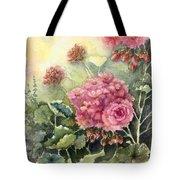 Pink Geranium's  Tote Bag