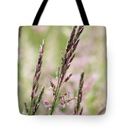 Pink Grass Tote Bag