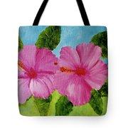 Pink Hawaiian Hibiscus Flower #23 Tote Bag