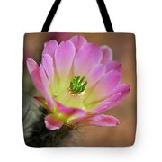 Pink Hedgehog Cactus Tote Bag