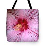 Pink Hibiscus Macro Tote Bag