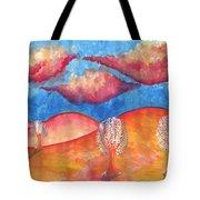 Pink Hills Dream Tote Bag