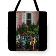 Pink House Bikes Cape May Nj Tote Bag