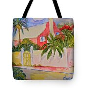 Pink House Tote Bag