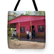 Pink House In Costa Rica Tote Bag