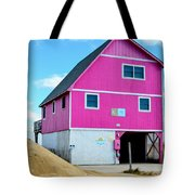 Pink House On The Beach 1 Tote Bag