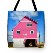 Pink House On The Beach 3 Tote Bag