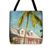 Pink House Palm Tote Bag