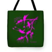 Pink Hummingbirds Tote Bag