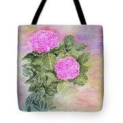 Pink Hydrangeas And Hostas Tote Bag