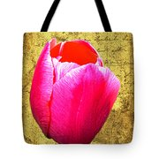 Pink Impression Tulip Tote Bag